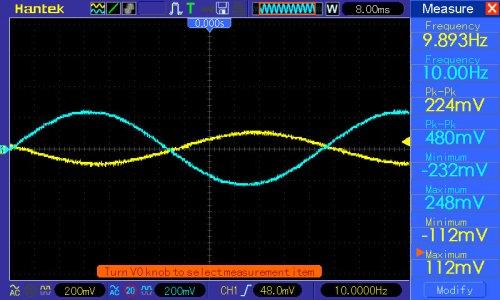 Pomiar przy f=10Hz