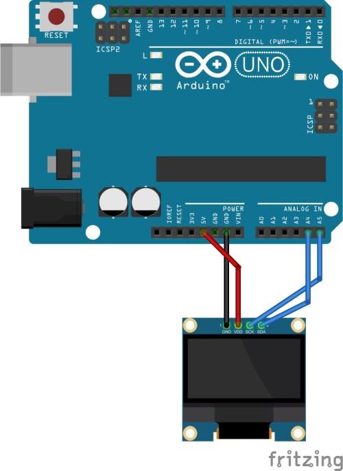 Połączenie wyświetlacza OLED z Arduino UNO