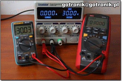 Pomiar napięcia 30V DC (miernik 101)