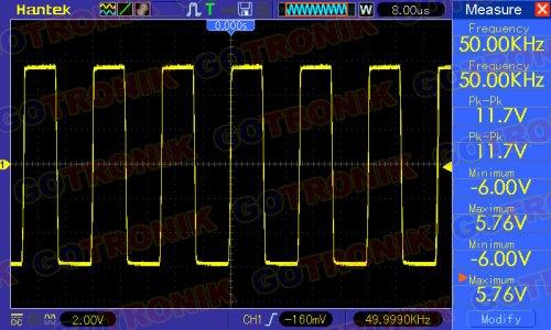 Sygnał prostokątny 50 kHz