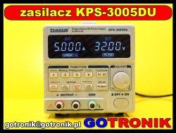 Podłączenie zasilacza KPS-3005DU do komputera