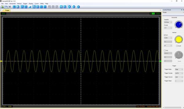 Pomiar 5: f=100kHz, amplituda 10V