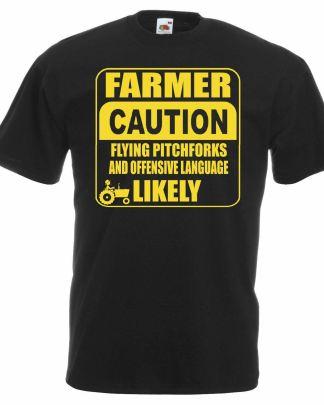 Caution farmer t-shirt