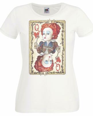 Alice Wonderland Queen of Heart big head Card