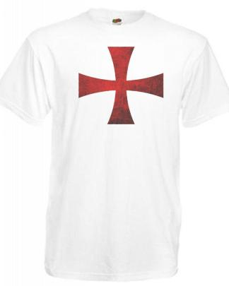 Mens England Supporters Templar Crusader Cross St Georges Day T-Shirt