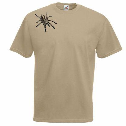 Arachnophobia Giant Tarantula Unisex Khaki T-Shirt Goliath Spider