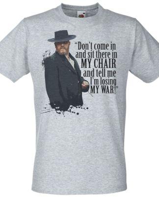 Grey Alfie Soloman Quote T-Shirt Peaky Camden Town Gang