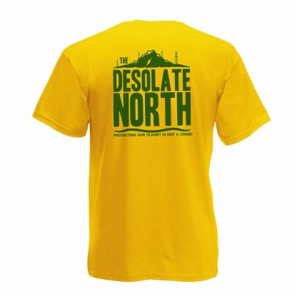The Desolate North Yellow Water Is Life T-Shirt - PNR Water Protectors DAPL backside
