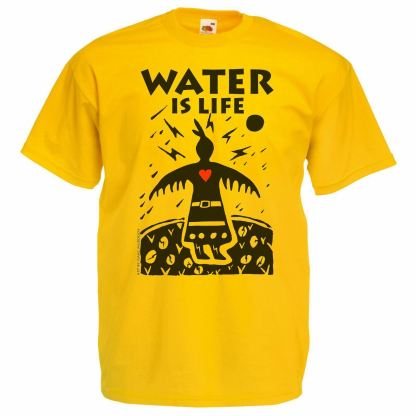 The Desolate North Yellow Water Is Life T-Shirt - PNR Water Protectors DAPL front