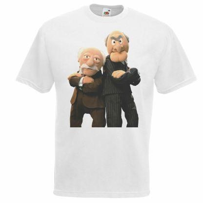 Statler & Waldorf White T-Shirt 1980's Muppets Funny Old Men