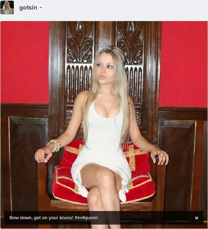 sininhu-sylvia-santini-evil-queen-bow-down-beyonce-instagram