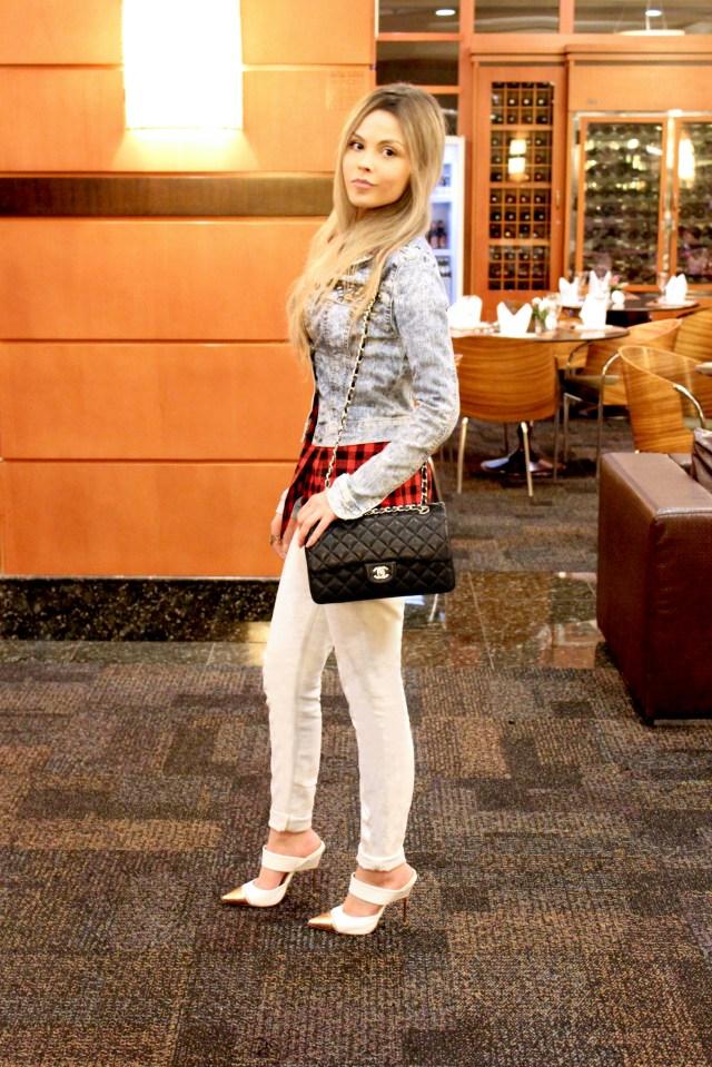 sininhu sylvia santini meu look integramoda 16 rs blog got sin jeans chanel xadrez grunge  mule branco vermelho intercity hotel 01