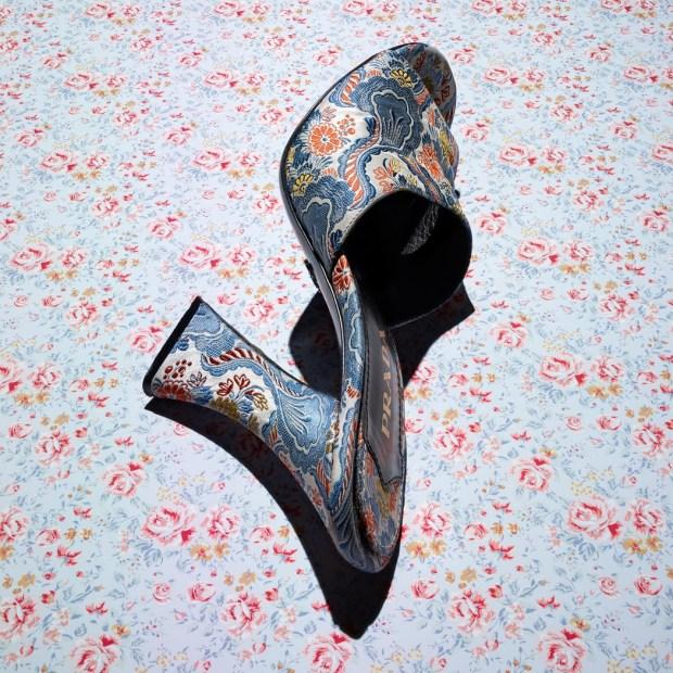 Prada shoes Paisley print silk mule seda tamanco 90s sapatos mais ousados da temporada mitchel feinberg blog got sin