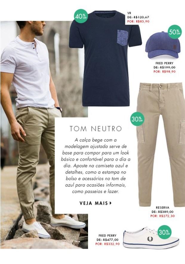 moda masculina dica de looks para homens tons terrosos calça chino tons neutros bege caqui blog got sin