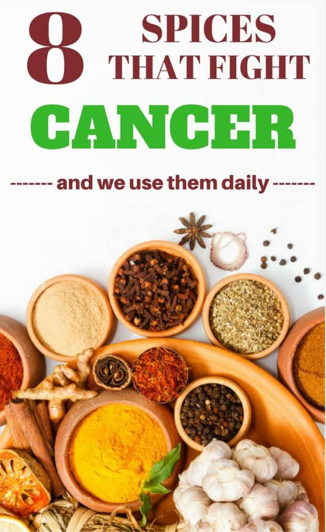 List of herbs and spices that fight cancer and cancerous cells.