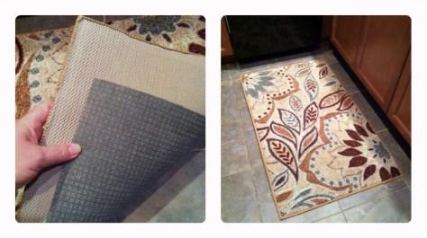 Kitchen rug with rug pad usa pad