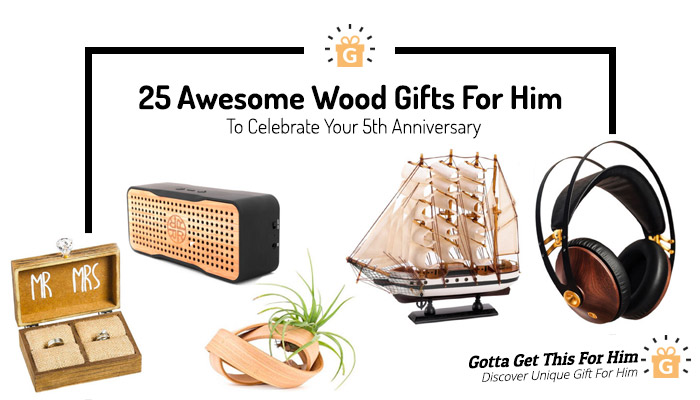 unique wood gifts for him