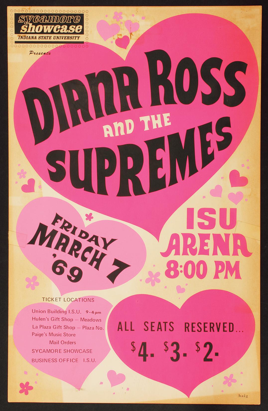 supremes original concert poster