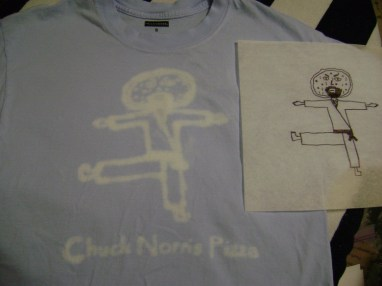 Chuck Norris Pizza shirt