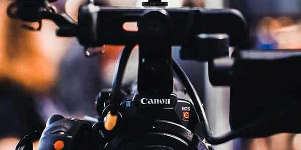 Canon camera with flash on