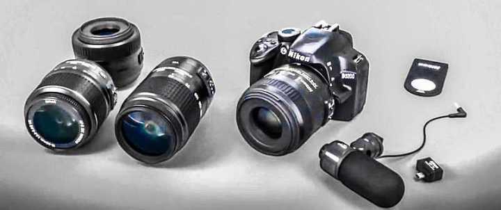 Nikon D3200 camera lenses