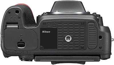 Nikon D750 bottom view tripod connexion and battery slot