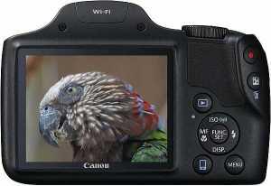 Canon SX530 HS display