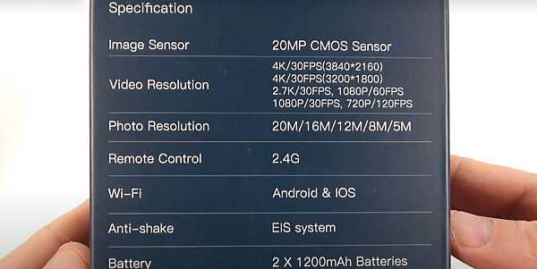 Cooau 4k action camera 20 mp specs