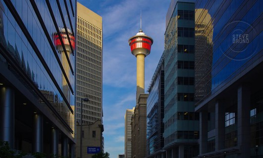Calgary Tower looking down 9 Ave SW - Calgary, Alberta - Steve Bruno - gottatakemorepix