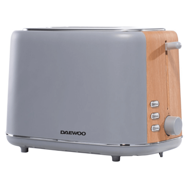 Daewoo SDA1737 2 Slice Toaster with Variable Browning, Defrost and Reheat Settings, Grey Toaster, Kitchenware and Home Accessories