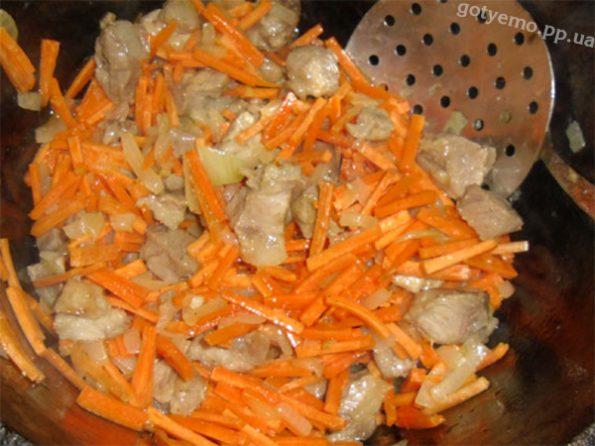 м'ясо + цибуля + морква