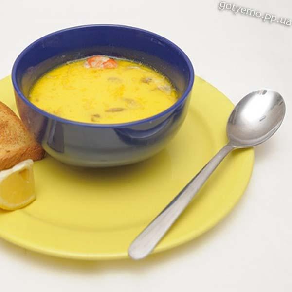 Суп з креветками та сиром