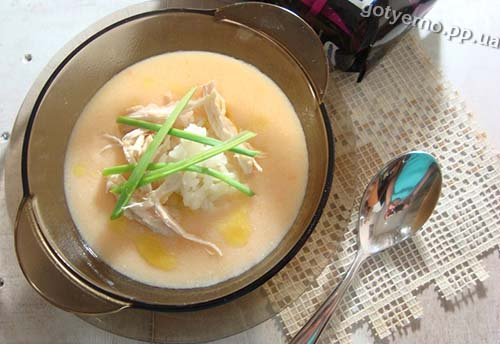 суп-пюре з цвітної капусти і рису