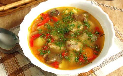 Рецепт овочевого супу з квасолевими галушками