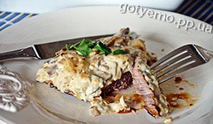 рецепт яловичини під грибним соусом