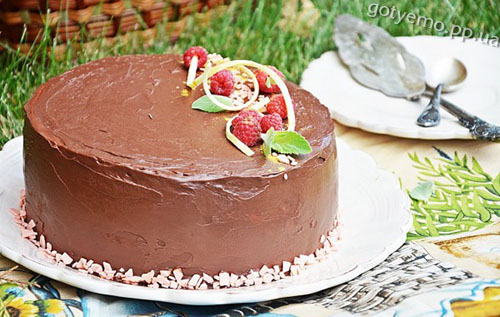 "рецепт торта ""Малиновий трюфель"""