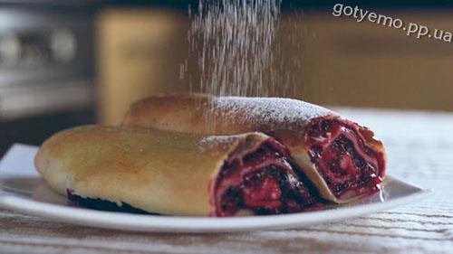 рецепт штруделя з вишнею