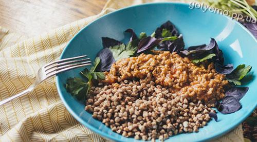 рецепт гречки з соусом болоньєзе