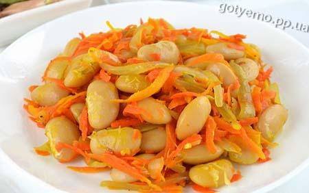 рецепт квасолі з морквою і цибулею