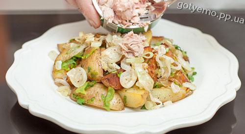 рецепт салату з картоплею і тунцем