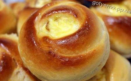 рецепт булочок розочок з сиром