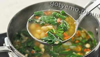 рецепт супу зі шпинатом і квасолею
