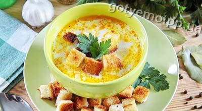 Рецепт супу з куркою, рисом і плавленим сиром