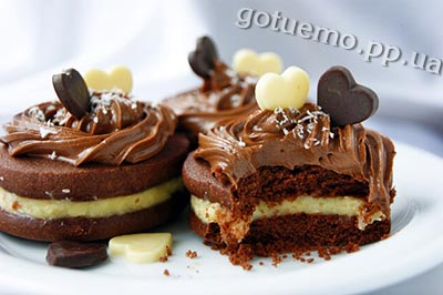 Рецепт шоколадного печива з кокосовим кремом