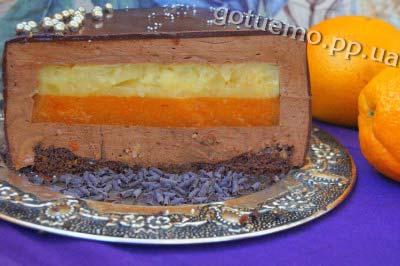 рецепт торта з хурмою
