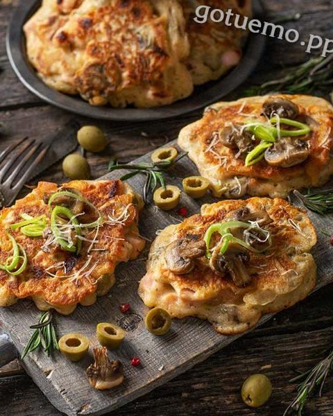 оладки-піца на кефірі