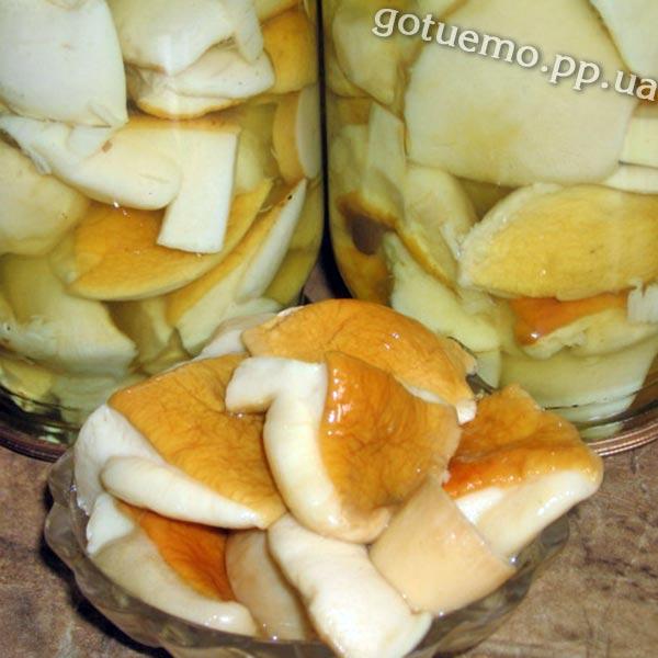 рецепт маринованих грибів
