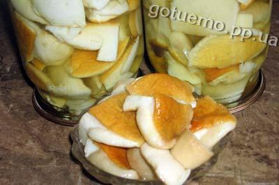 мариновані білі гриби