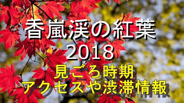 香嵐渓の紅葉2018見ごろとアクセス・渋滞情報
