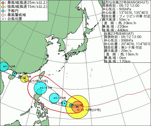 台風22号23号2018の進路予想と米軍ヨーロッパの最新情報